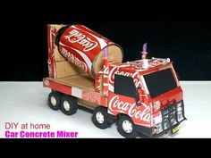 How to make a Concrete Mix Truck from Coca Cola - Truck (Remote Control) Amazing of Coca Cola! - YouTube