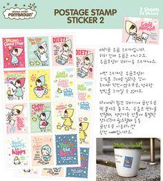 Bandana Girl Postage Stickers Ver. 2 2 sheets by WonderlandRoom