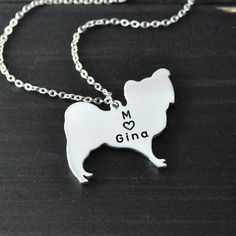 Papillon necklace Papillon pendant 925 by LovePersonalized on Etsy, $9.99