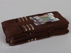 Набор полотенец BALE коричневый 30х50 (3шт) от Karna (Турция) - купить по низкой цене в интернет магазине Домильфо