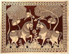 Indian Painting Styles...Kalamkari Paintings (Andhra Pradesh)-kalamkari-horse1-9-.jpg