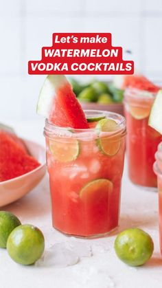 Refreshing Summer Cocktails, Spring Cocktails, Fruity Cocktails, Summer Drinks, Aperol Drinks, Strawberry Cocktails, Non Alcoholic Drinks, Watermelon Vodka Drinks, Watermelon Smoothie Recipes