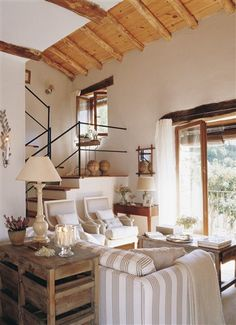 en decoración дизайн дома, дом y загородные дома Small Living, Living Spaces, Interior Design Living Room, Interior Decorating, Sweet Home, Interior Exterior, Country Decor, My Dream Home, Modern Decor