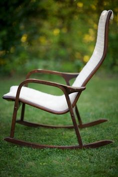 Brahmin Rocker Rocking Chair Mid Century Reenskaugh Danish Modern ...