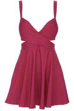 Crimson Bandeau Dress