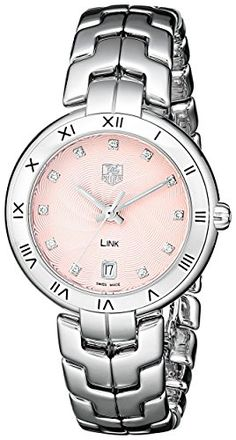 Women's Wrist Watches - TAG Heuer Womens WAT1313BA0956 Link Analog Display Quartz Silver Watch >>> You can find out more details at the link of the image.