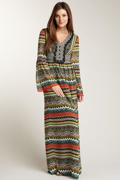 Phoebe Couture Multiprint Maxi Dress