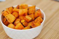 sweet potatoes roasted in coconut oil. Coconut oil heals your body of infections, and rids it of fungi and bacterias.