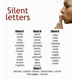 Silent letters English Grammar Exercises, English Grammar Tenses, English Phonics, English Idioms, English Lessons, English Vocabulary, Teaching English, Vocabulary Meaning, Teaching Vocabulary