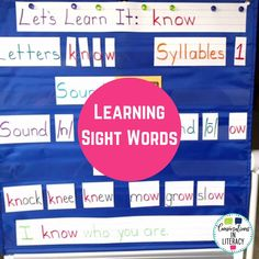 Teach students sight words by building relationships between sounds, letters and words. This anchor chart helps with sight word activities and sight word practice as a worksheet alternative! #sightwords #kindergarten #firstgrade #secondgrade #thirdgrade #conversationsinliteracy 1st grade, kindergarten, second grade, third grade