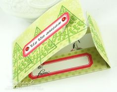 gift card holders with stamped labels