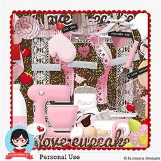 Kit - Amo Cupcakes by Fa Maura + Bonus Shabby