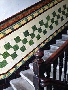 #Southside of #Glasgow. #tenement #tile #wallyclose #vintage #interior #design #decor #scotland #ceramic #staircase