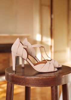 This Season, Blush Is Big – The Simply Luxurious Life® Black Camel, Black Suede, Leather Heels, Suede Leather, T Bar Shoes, Colorful Shoes, Wedding Heels, Parisian Style, Bridal Shoes