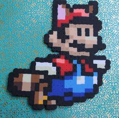 Super Mario Flying Sprite Pixel Art 8-bit Art Nerd by GetYoGeekOn