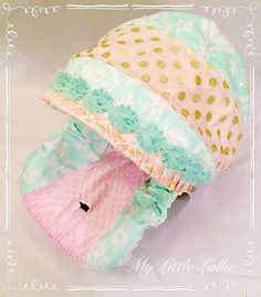 Penelope Mint, Pink and Gold Boutique Custom Girls Infant Carseat Cover Canopy, Chest Strap Covers, Headrest Included by MyLittleLollieShop on Etsy https://www.etsy.com/listing/213248480/penelope-mint-pink-and-gold-boutique