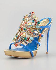 ShopStyle.com: Rene Caovilla Crystal-Front Platform Slide $1,475.00  http://ShoeTrendsetters.com