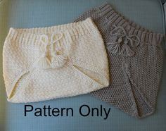 1950 Knit and Crocheted Diaper Covers Patterns by patternsalacarte, $2.99