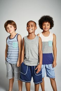 Buy Three Pack Vest Short Pyjamas (3-16yrs) online today at Next: Israel