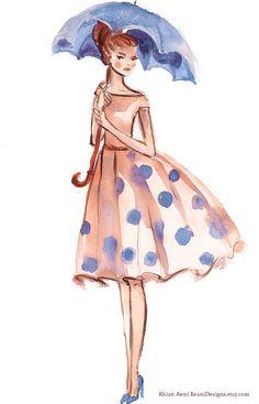 Watercolor Illustration Logo Design Character by ReaniDesigns Illustration Girl, Graphic Design Illustration, Watercolor Illustration, Fantasy Logo, S8 Wallpaper, Gifs, Boutique Logo, Audrey Hepburn, Lovers Art