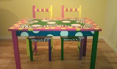 http://www.etsy.com/listing/92615315/funky-hand-painted-table-and-two-chaird?ref=cat1_gallery_26 Super Cute!