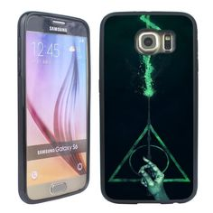 Harry Potter Pattern Black Silicone phone Case Cover for Samsung Galaxy S7 S6 S5