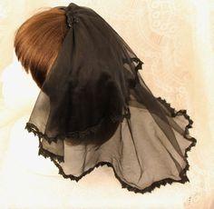 Gothic Demi Veil by SakuraFairy on Etsy