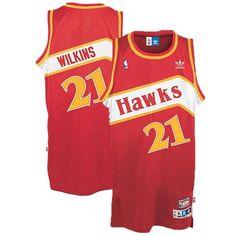 9f4b6e92d36 Dominique Wilkins 1985-86 ADIDAS Atlanta Hawks Soul Swingman (Red) Jersey  Men s Dominique