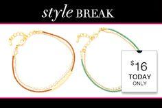 STYLE BREAK! Get the Sophie Bracelets for $16. Today Only! https://helloglobalchic.kitsylane.com