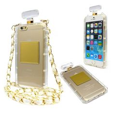 Luxury Fashion Perfume Bottle Chain Carry Case Cover for iPhone 6 & 6S