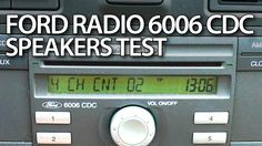 How to #test #speakers in #Ford 6006 CDC #radio hidden #service menu #Mondoe #Focus #Fiesta #cars