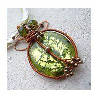 šperky (vinutá perle, měděné dráty a korálky)