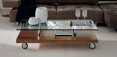 Parsifal moderní konferenční stolek se skleněnou horní deskou / coffee table with glass top