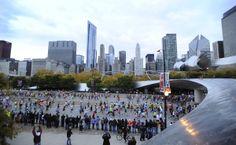 Runners start the 2012 Chicago Marathon Sunday, Oct. 7, 2012. (AP Photo/Paul Beaty) Best Chicago Photos Of 2012