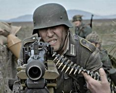 German Soldier with a MG-42