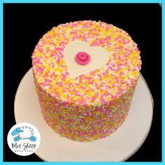 Buttercream Sprinkle Heart Cake