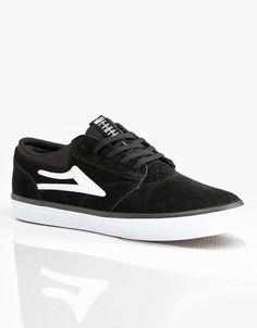 Lakai Griffin Skate Shoes - Black White Suede 3816482ec