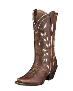 Ariat Women's Sonora Boot - Bitterwater Brown Western Boots, Cowgirl Boots, Cute Boots, Fashion Boots, Xmas Gifts, Me Too Shoes, Girl Stuff, Cool Outfits, Westerns