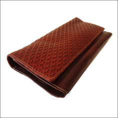 Womens Wallet Vintage Style Genuine Leather Clutch Bag Tooled Purse Brown b9e1cc9951a