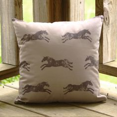 Classic Horse Black and Tan Pillow - The Painting Pony