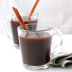 Spiced Coffee Recipe -I've found that those who aren't necessarily coffee fans often change their tune when they get a whiff of this chocolaty coffee drink. I like to serve up a big batch at parties. —Joanne Holt, Bowling Green, Ohio
