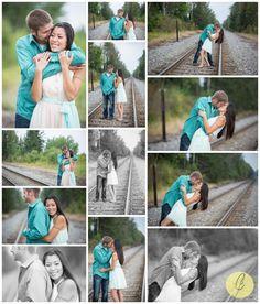Engagement Pictures!! Railroad Tracks!
