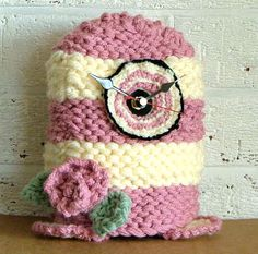 knit and crochet clock