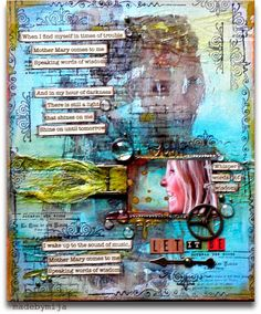 art journal.......i love collage!  this one is fabulous!!!!