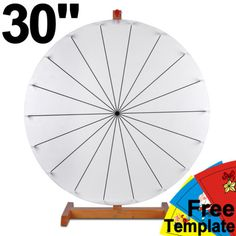 Slot Prize Wheel Carnival Tabletop Spin Game Trade Show Dry Erase