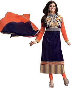 Shreeji Fashion Cotton Embroidered Semi-stitched S