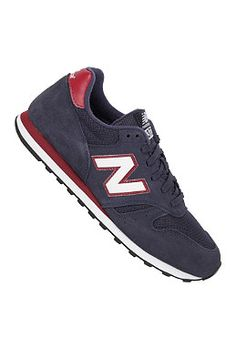 black and red new balance 373