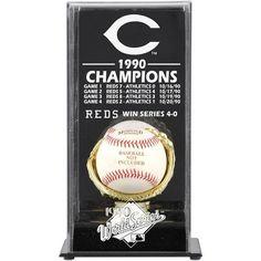 Cincinnati Reds Fanatics Authentic 1990 World Series Champions Baseball Display Case - $49.99