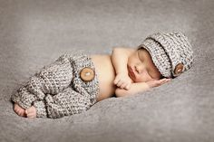 free shipping,Gray newsboy modelling Hat And  Pants baby Set Newborn handmade crochet Photography Prop,100% cotton-in Clothing Sets from Mother & Kids on Aliexpress.com | Alibaba Group