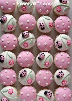 Ladybugs & Polka Dots Cupcakes WM